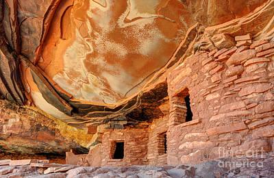 Fallen Roof Anasazi Ruins - Cedar Mesa - Utah Art Print by Gary Whitton