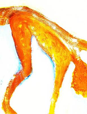 Nonverbal Communication Painting - Falling Again, Deeper This Time   by Hilde Widerberg