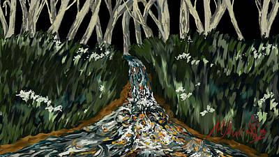 Falling Art Print by Amanda Johnson