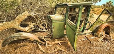 Mining Truck Photograph - Falling Apart At Joshua Tree by Adam Jewell