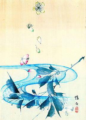 Falling Blossoms 1870 Art Print by Padre Art