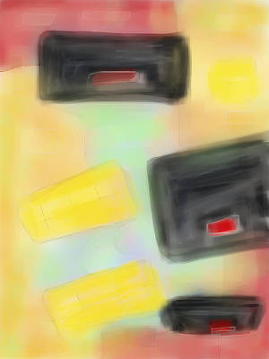 Digital Art - Falling Boxes by Susan Stone