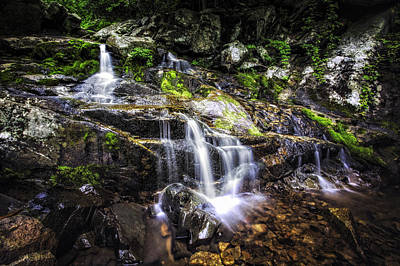 Art Print featuring the photograph Falling Cascades  by Joshua Minso
