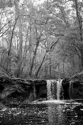 Photograph - Falling Creek Falls - Black And White by rd Erickson