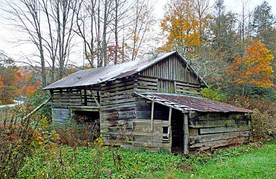 Photograph - Falling Down Old Barn In The Fall 2 by Duane McCullough