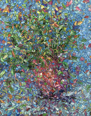 Painting - Falling Flowers by James W Johnson