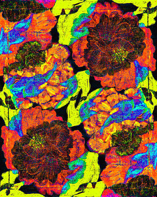 Digital Art - Falling Flowers by Stephanie Grant