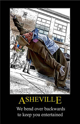 Digital Art - Falling For Asheville Poster by John Haldane
