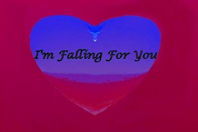 Digital Art - Falling For You by Mike Breau