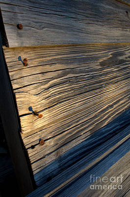 Photograph - Weathered Woodgrain by Anjanette Douglas