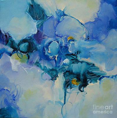 falling into blue I Art Print by Elis Cooke