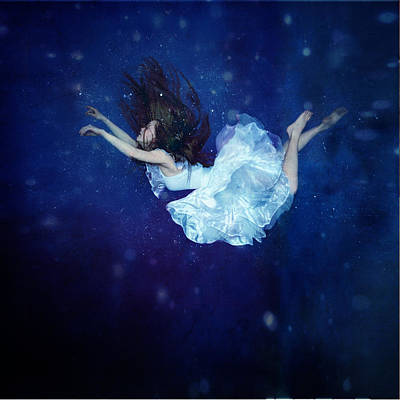 Floating Girl Photograph - Falling Into Dream by Anka Zhuravleva
