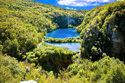 Falling Lakes Of Plitvice National Park Art Print
