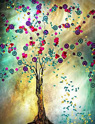 Falling Leaves Art Print by Barbara Chichester