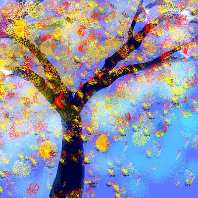 Digital Art - Falling Leaves by Jessica Wright