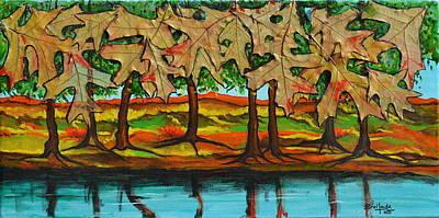Painting - Falling Leaves by Jorge Parellada