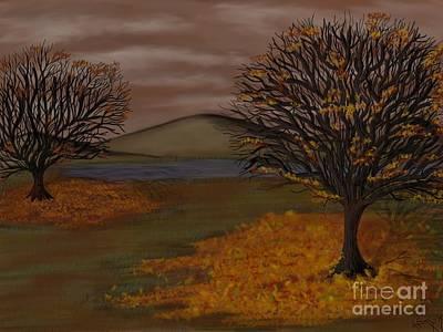 Fallen Leaf Drawing - Falling Leaves by Lisa Estep