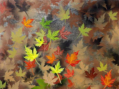 Painting - Falling Leaves by Lynn Hansen