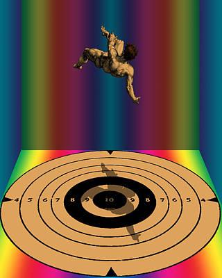 Digital Art - Falling Man by Eric Edelman