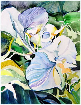 Falling Orchids Art Print by Mindy Newman