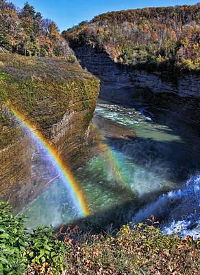 Art Print featuring the photograph Falling Rainbow by David Stine