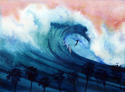 Big Wave Painting - Falling Sideways by Nelson Ruger