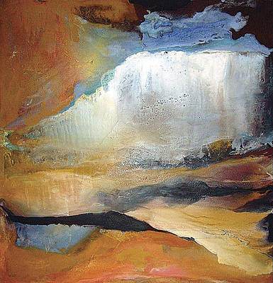 Painting - Falling Sky Ice Mountain by Carolyn Goodridge