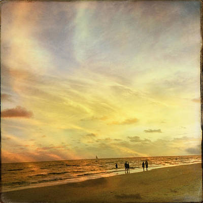 Photograph - Falling Sky Siesta Key II by Alison Maddex
