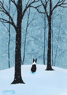 Snow Drifts Painting - Falling Snow by Todd Young