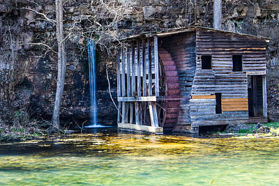 Falling Spring Mill Art Print by Steven Bateson