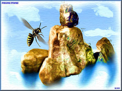 Wasp.insect Digital Art - Falling Stones by Daniel Janda