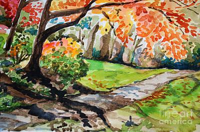 Falling Sun Tree Original
