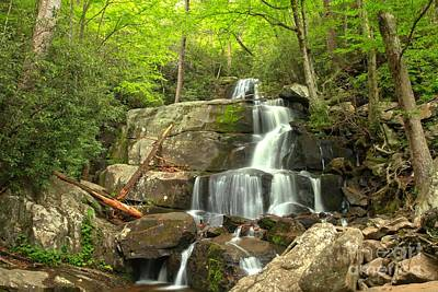 Photograph - Falling Through The Rocks In The Smokies by Adam Jewell