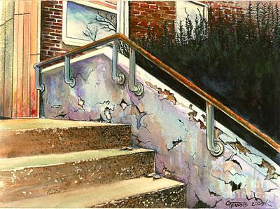 Falling Thru The Cracks  Art Print