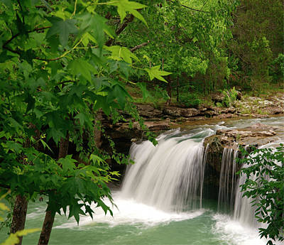 Falling Waterfall, Richland Creek Art Print