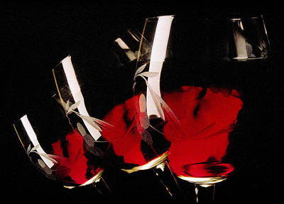Photograph - Falling Wine Glasses by Matthew Pace