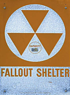 Cargo Boats Rights Managed Images - Fallout Shelter Sign Royalty-Free Image by Stephen Stookey