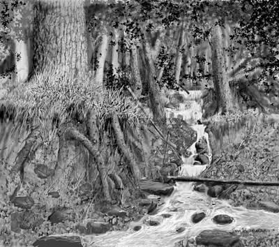 Falls 7/5 2014 Art Print by Jim Hubbard