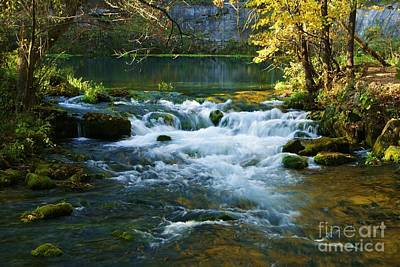 Art Print featuring the photograph Falls At Alley Spring Mill by Julie Clements