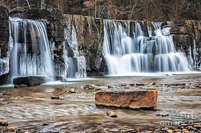 Photograph - Falls At Natural Dam by Larry McMahon
