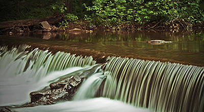 Photograph - Falls At St. Peters Village by Michael Porchik