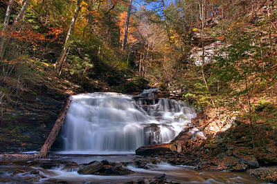 Photograph - Fall's Beautiful Colors Compliment Mohican Falls by Gene Walls