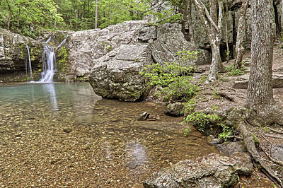 Photograph - Falls Creek Falls Basin - Lake Catherine - Hot Springs - Arkansas by Jason Politte