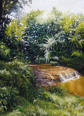 Painting - Falls by Gregg Hinlicky