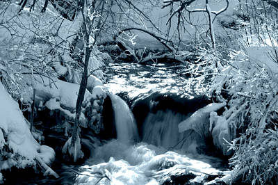Photograph - Falls In Blue by Dakota Light Photography By Dakota