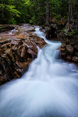 Ledge Photograph - Falls In The Forest by Jeff Sinon