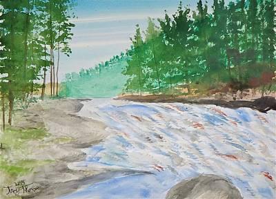 Falls Into Kawaseecheewank Original by Troy Thomas