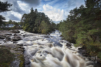 Fall Of River Photograph - Falls Of Dochart Scotland by Colin and Linda McKie