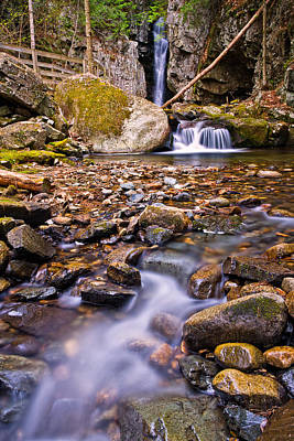 Ledge Photograph - Falls Of Song On Shannon Brook by Jeff Sinon