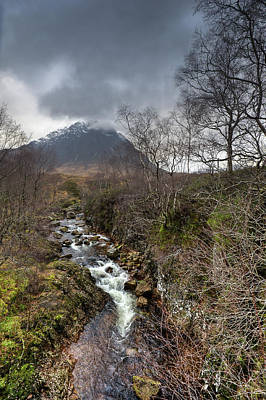 Stob Dearg Photograph - Falls On The River Coupall by Gary Eason